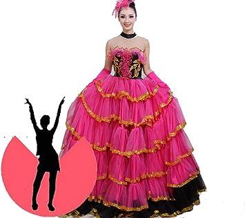SMACO Falda Gitana Danza del Vientre,Flamenco Falda Disfraz ...