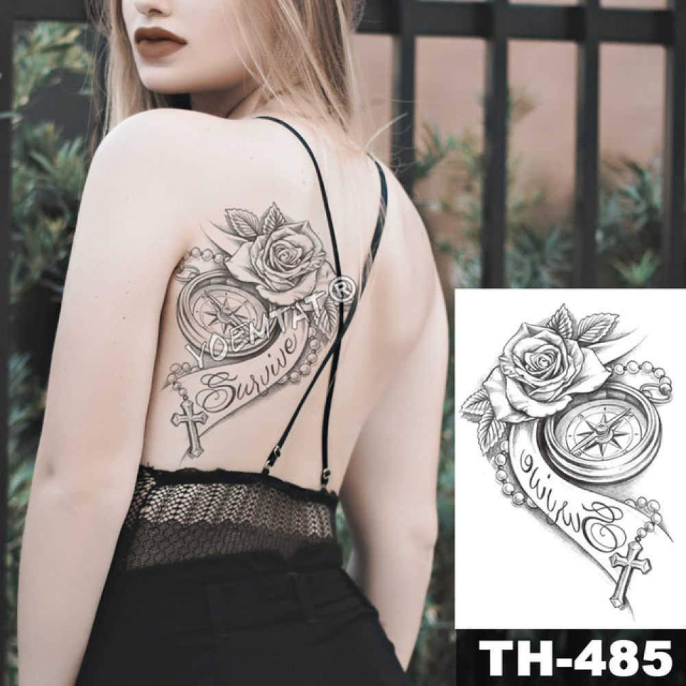adgkitb 3 Piezas Impermeable Tatuaje Temporal del Pecho Etiqueta ...