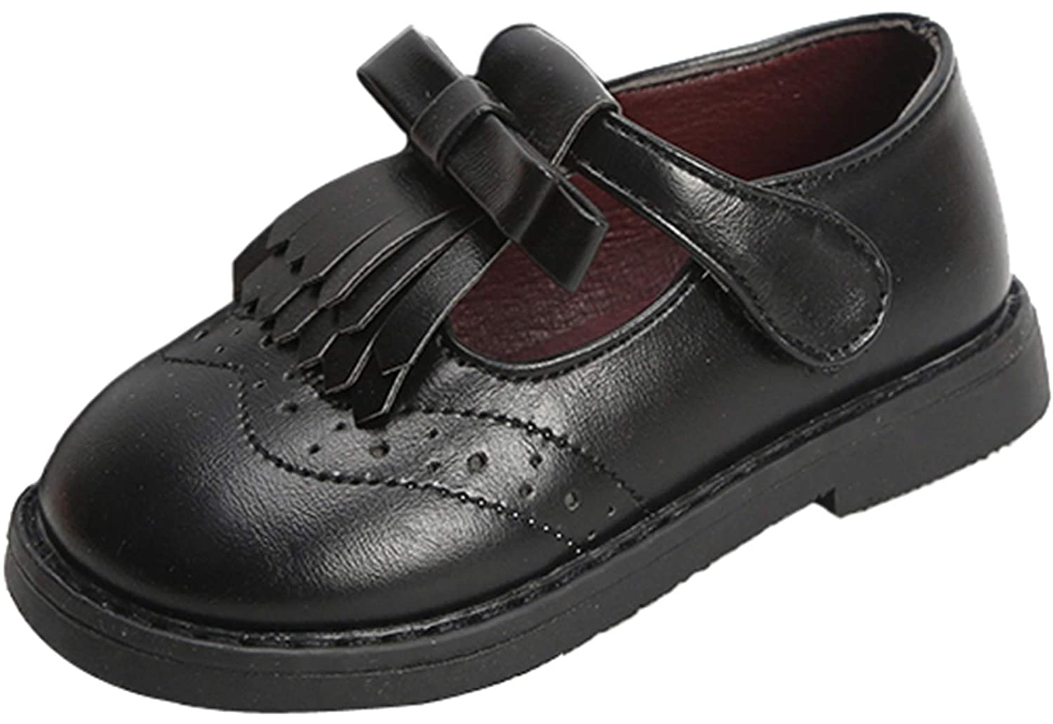 PPXID Toddler Little Girls Princess T-Bar Oxford Dress Shoes Flat Mary Jane