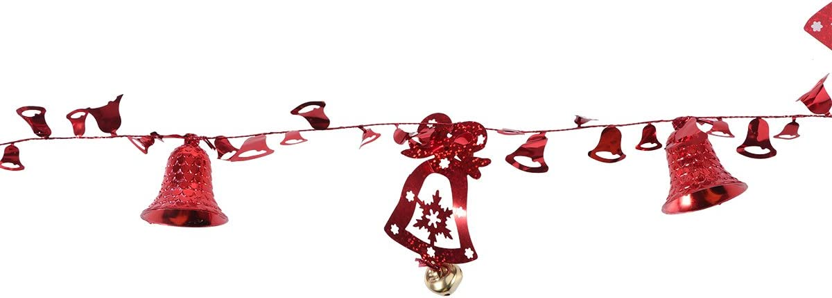 Red Party Supplies PRETYZOOM Temple Bell Hanging String Christmas Tree Decor Bell Ornament for Holiday Decoration