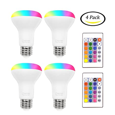 8w color changing light bulb 4 pack led colored light bulbs e26 rgb 16