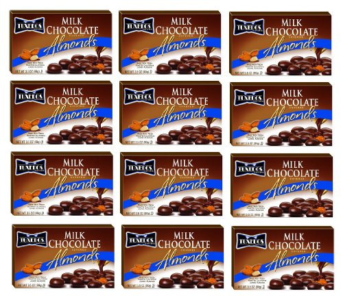 Tuxedos Milk Chocolate Covered Almonds: 12 Packs of 3.5 Oz - Tj