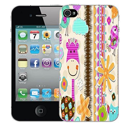 Mobile Case Mate iPhone 5 5s clip on Dur Coque couverture case cover Pare-chocs - girrafe Motif avec Stylet
