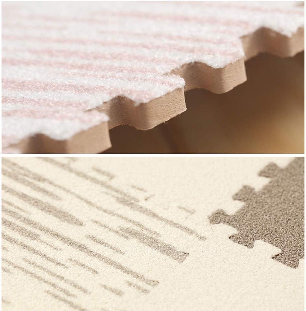 AWSAD Teppichfliesen Ineinandergreifend K/älteschutz Dauerhaft Wohnzimmer Spielzimmer Krabbelmatte Color : A, Size : 30x30x1cm 9 Pieces Mehrere Farbe 2 Gr/ö/ße