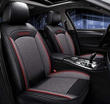 Housse siege voiture Housse de si/ège auto en cuir PU Jeu complet Couleur : Black+white lines for BMW F10 F11 F15 F16 F20 F25 F30 F34 E60 E70 E90 Janvier 3 4 5 7 S/érie GT X1 X3 X4 X5 X6