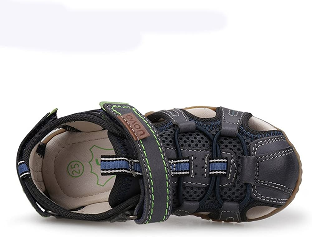 U-MAC Boys Sandals Girls Sandals Closed Toe Bungee Strap Anti-Collision Outdoor Athletic Shoes for Little Kid//Big Kid