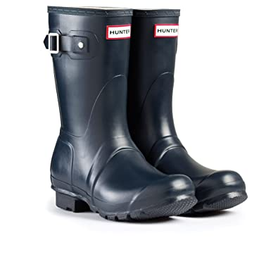 8d1fcbbf35e1 Image Unavailable. Image not available for. Color  Hunter Womens Original Short  Navy Matte Rain Boot ...