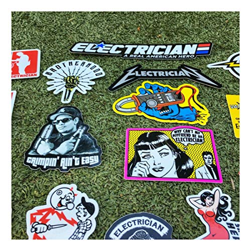 New Electrician (55+) Hard Hat Stickers Hardhat Decals, Lineman Reddy IBEW by Unknown (Image #6)