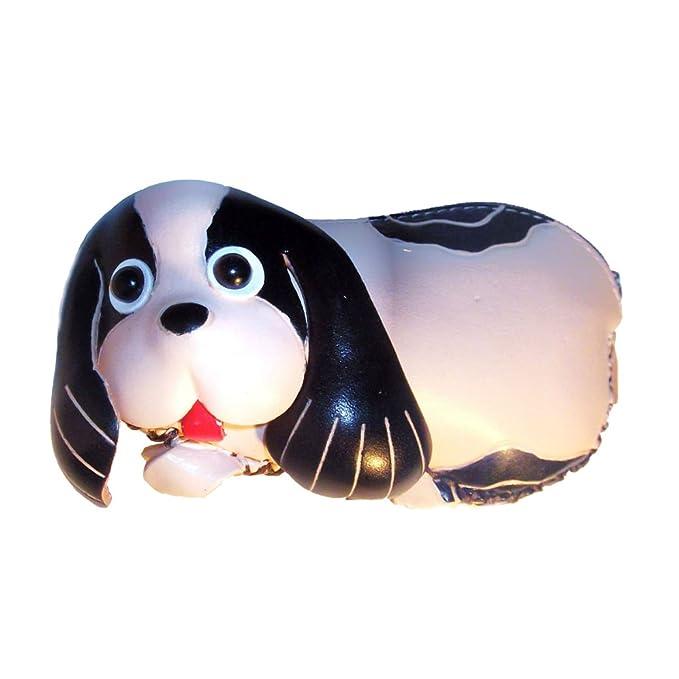 Amazon.com: anipals perro – Monedero de piel con correa para ...