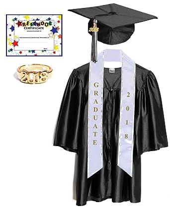 Amazoncom Preschool Graduation Cap And Gown With Tassel Sash