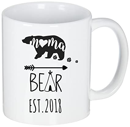 c13c7cb3cb Image Unavailable. Image not available for. Color: Personalized Coffee Mugs  - Mama Bear ...