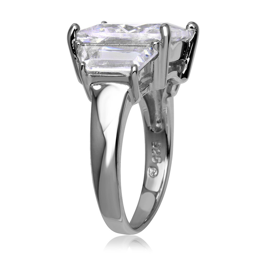 CloseoutWarehouse Cubic Zirconia Swirl Designer Ring Sterling Silver