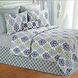 90'' x 92'' Full/Queen Quilt, Shabby Chic Blue