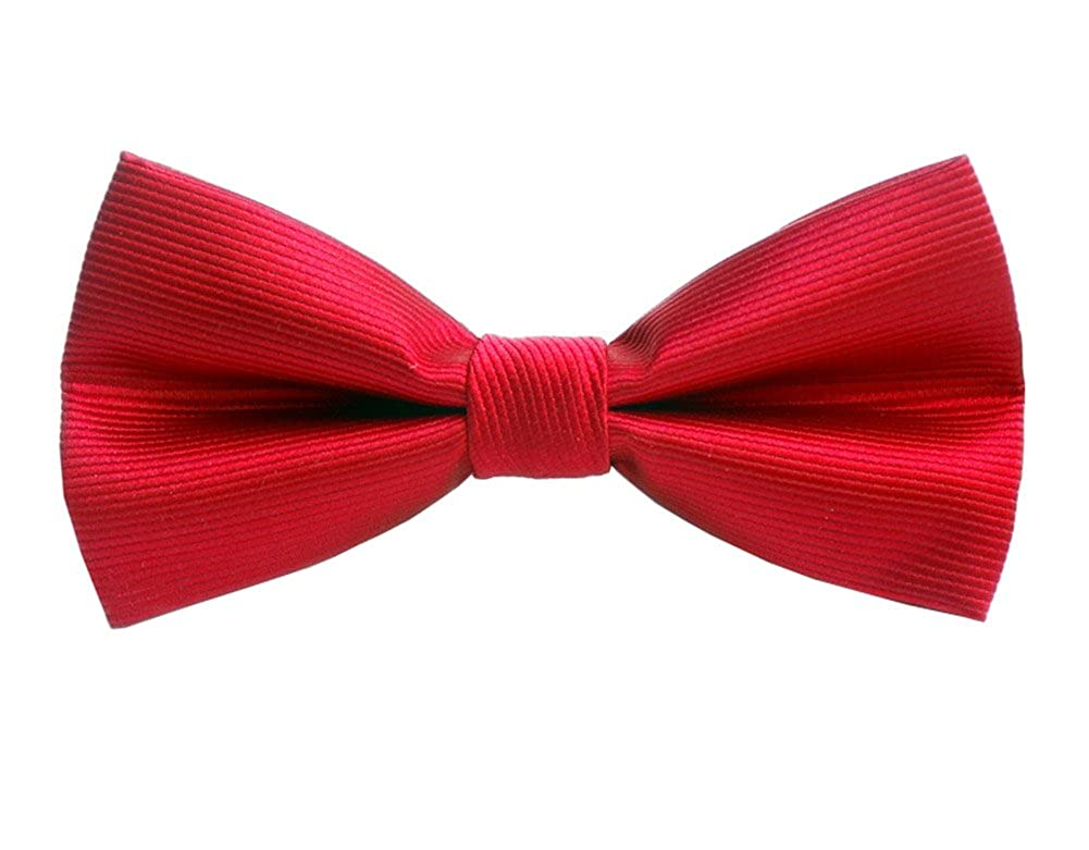 L04BABY Mens Classic Red Striped Pre-Tied Formal Tuxedo Adjustable Bow Tie
