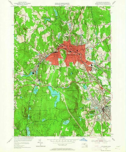 Rollstone Hill (YellowMaps Fitchburg MA topo map, 1:24000 Scale, 7.5 X 7.5 Minute, Historical, 1954, Updated 1964, 26.6 x 22 in - Tyvek)