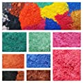 16 Mica Pigment Powder for Soap Making Supplies and Cosmetics Uses – Safe for DIY Soaps, Bath Bombs, Lotions, Shower Gels, Nail Polishes, Eye Shadow – A Sample Set of Beautiful Colorants.