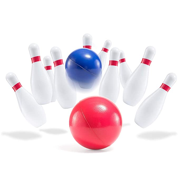 Prextex Schaumstoff-Bowling-Set in Kindergr/ö/ße Robustes Bowling-Set f/ür Kinder
