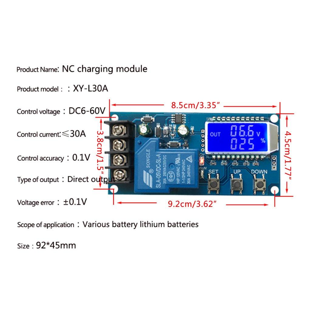 Guangtian 30A 6-60 V Contr/ôleur de charge de batterie