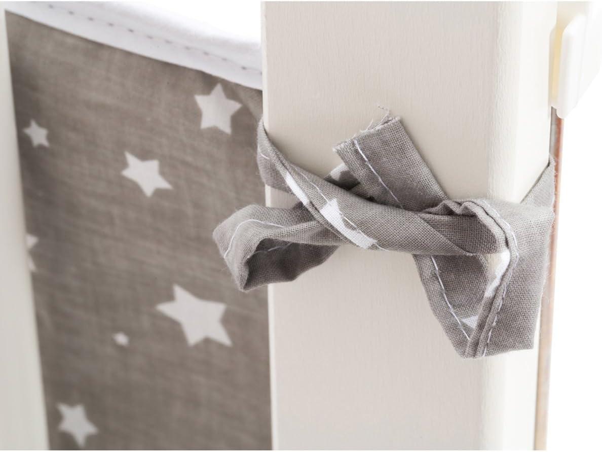 gris Fillikid Tour de lit pour lit cododo Cocon 26x165 cm tour de lit tour de lit b/éb/é