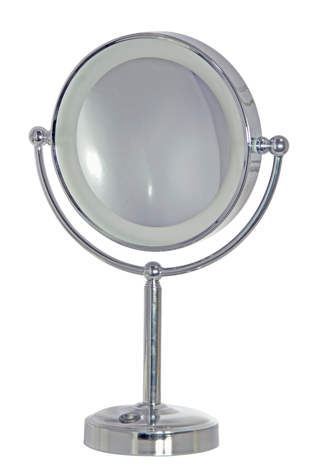 Daylight 24 502053-14 Cordless Rechargeable Make Up Mirror, Chrome Finish