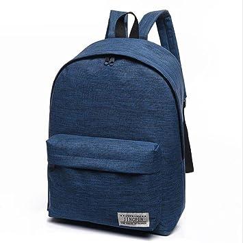 Mango King - 1 mochila de lona de color puro para estudiantes, bolsa de lona