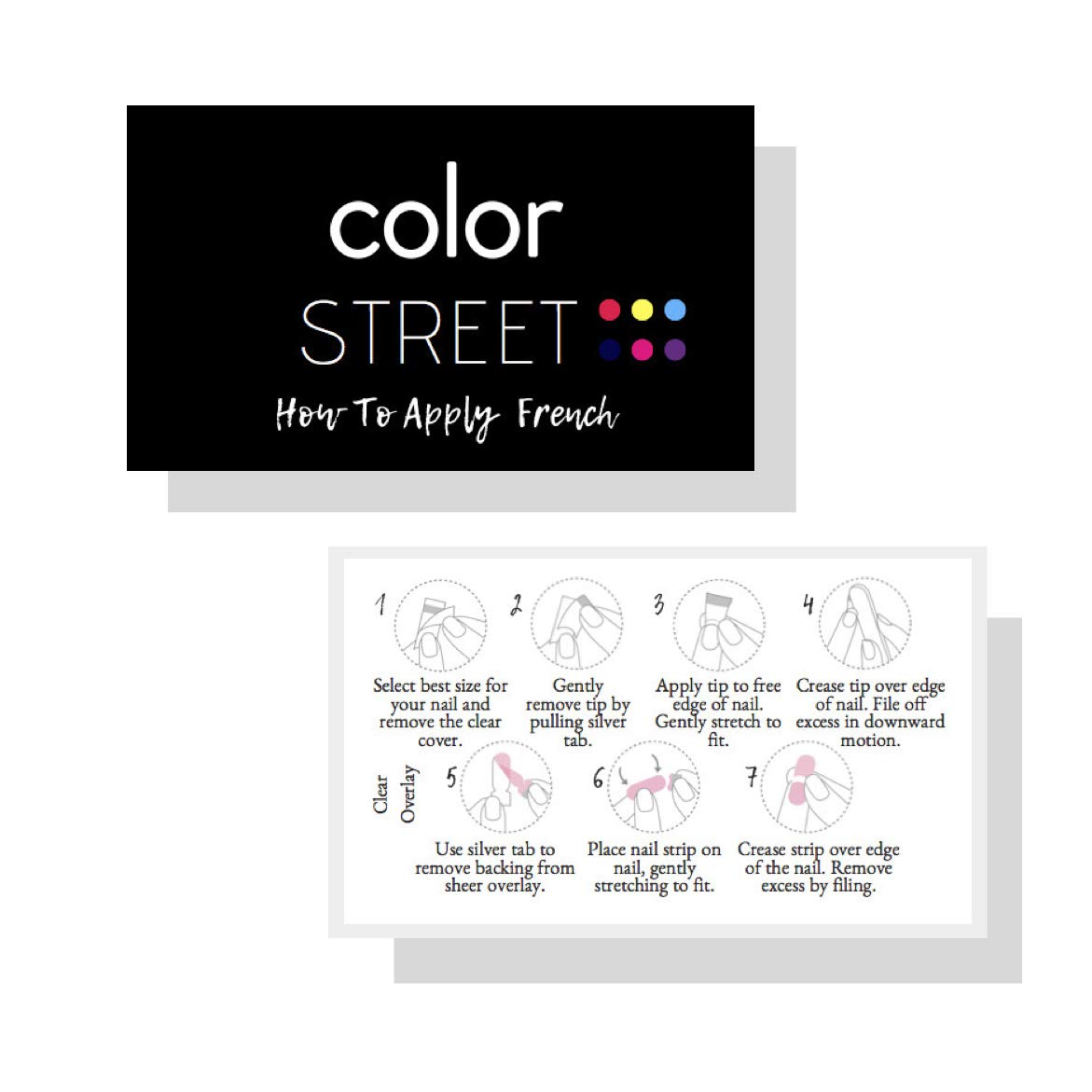 Amazon Color Street How To Apply French Nails 50 Pk