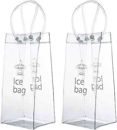 Comprar Vordas Bolso de Hielo, 2 Paquetes PVC Champagne Bolsa de Hielo Bolsa de Refrigerador con Mango para Pubs y Restaurantes, Hogar, etc