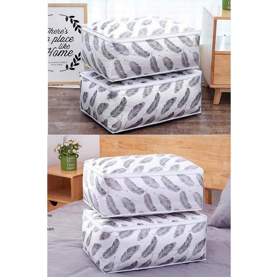 kirken Home Clothes Quilt Pillow Blanket Storage Bag Breathable Zipper Pouch Organizer Bags