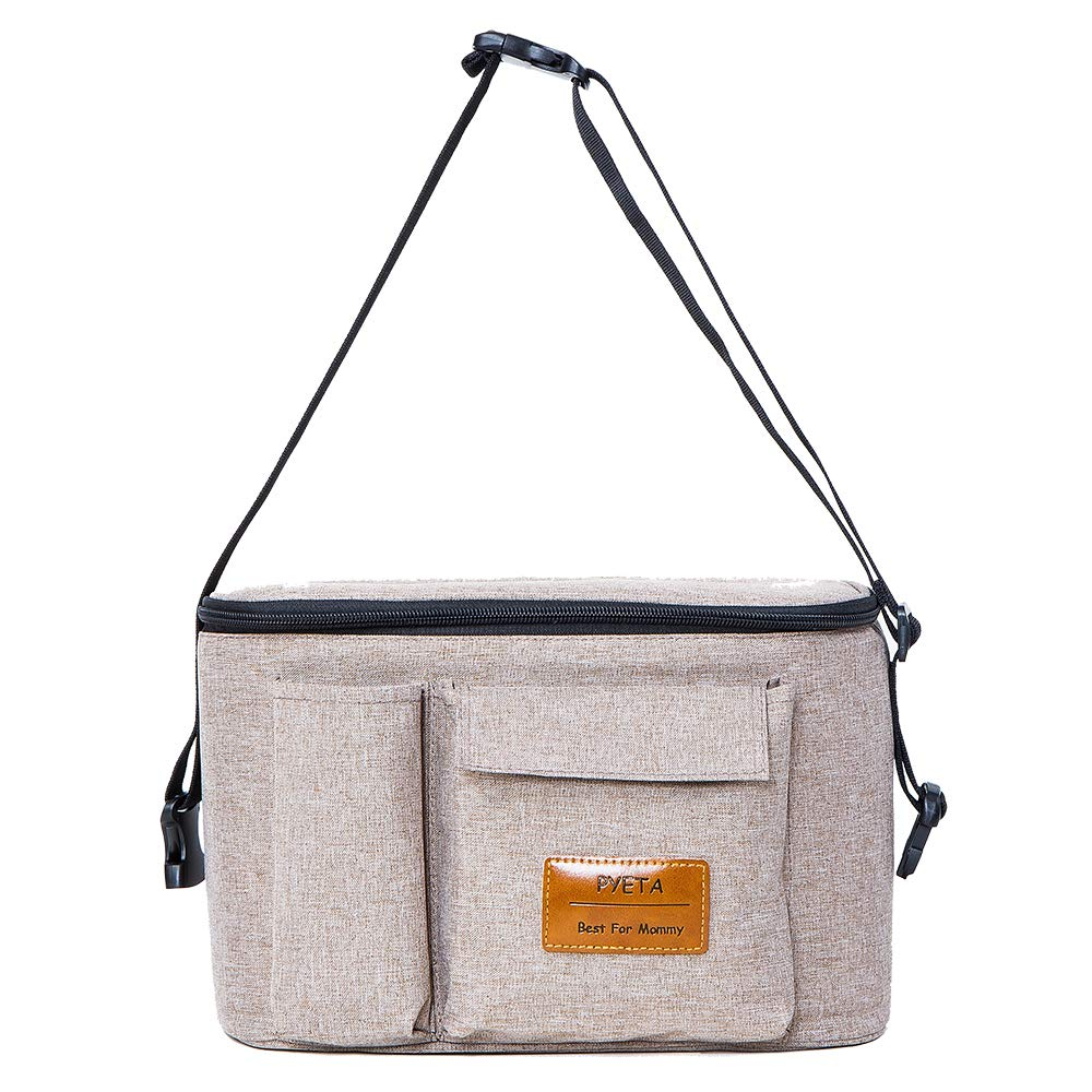 N.gray Diaper Bag Mommy Bag Nappy Bag Waterproof Multi-Function for Baby Care for Stroller Organizer