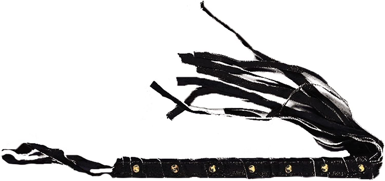 Gothic Leather Cosplay CAT O/'NINE TAIL WHIP Halloween Costume Prop Fetish Weapon
