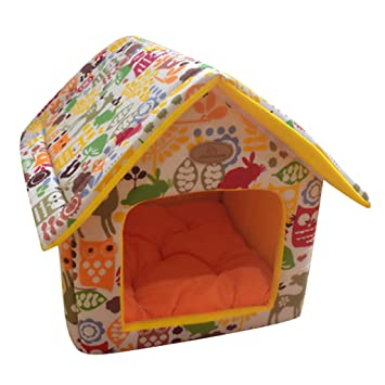 STRIR Práctica Cama para Mascotas, Desmontable Plegable Casetas Casa para Gatos Perros (M,
