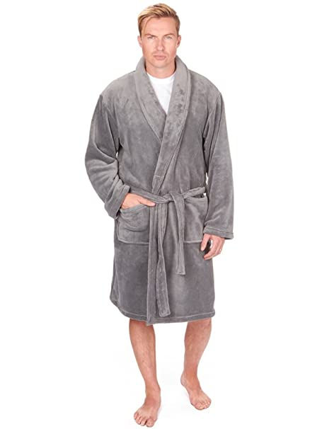 Mens Luxury Soft Coral Fleece Dressing Gown  Amazon.co.uk  Clothing 25cb3a9f7