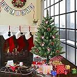 Goplus 5FT Artificial Christmas Tree PE & PVC Mixed Needles Carolina Pine Tree with Metal Stand
