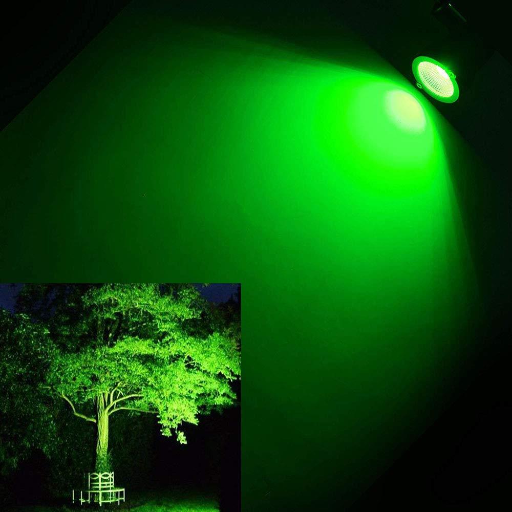 Onerbuy 12V LED Prato Luce Esterna Impermeabile Pareti Alberi Bandiere Faretti 5W COB Garden Yard Path Bassa Tensione Illuminazione Paesaggio con Spike Stand Rosso Confezione da 2