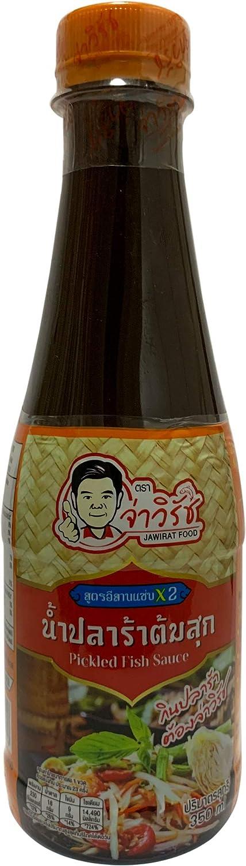 Jawirat Fermented Fish Sauce to cook Papaya Salad(Somtam) 12.34 Oz.