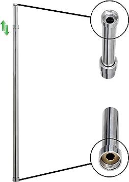 ENKI columna elevadora telescópica para ducha redonda latón ...