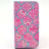 S6 Case, JCmax Flower Design Flip PU Leather Wallet Case with Stand Function and Card Slots forSamsung Galaxy S6