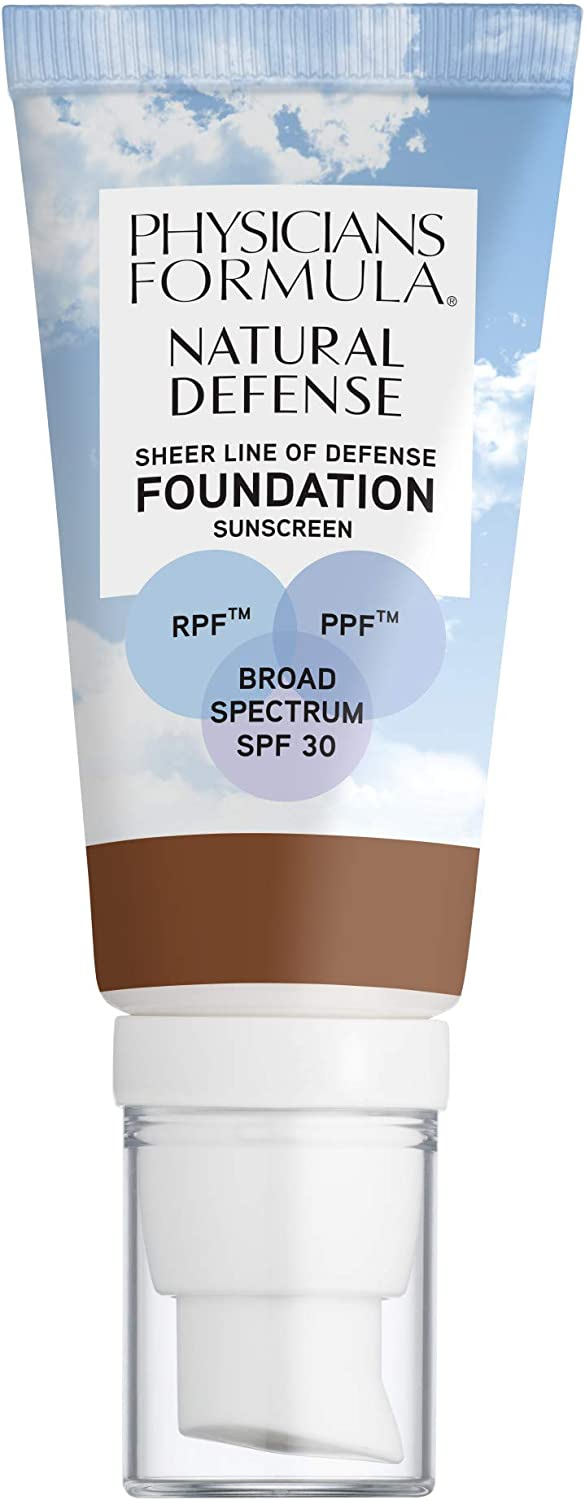 Physicians Formula Natural Defense Sheer Line of Defense Foundation SPF 30, Deep Warm, 1 Ounce (1711350)