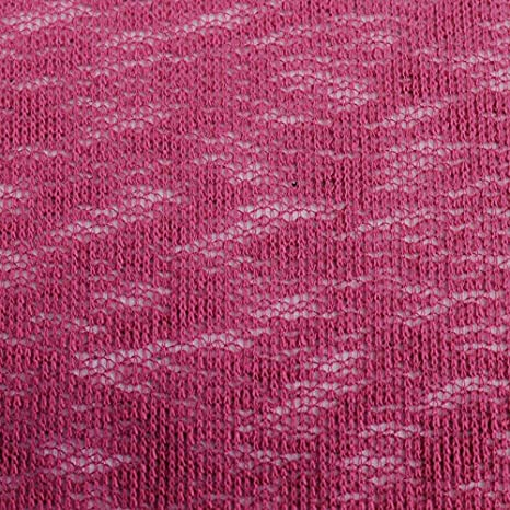 Hacci Crepe Poly Slub Cloud Open Knit Sweater Knit Fabric by The Yard (Magenta)