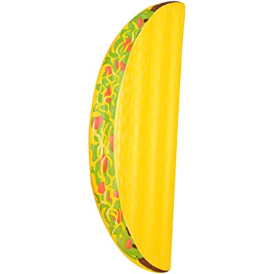 Coconut Float Pool Floats; Taco Pool Raft, 6.5 Ft.: Toys & Games