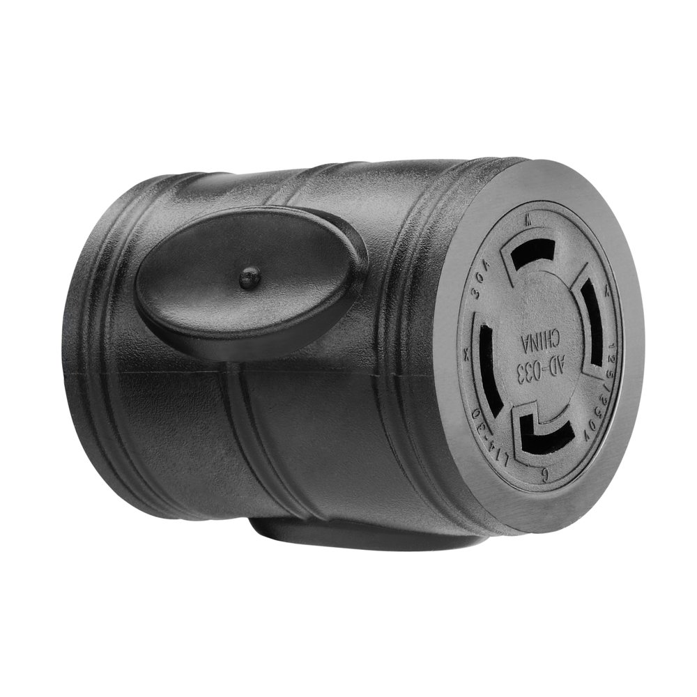 PowerFit PF922033 4-Prong 20-Amp Male Plug Adapter for 30-Amp Female Connector by Powerstroke