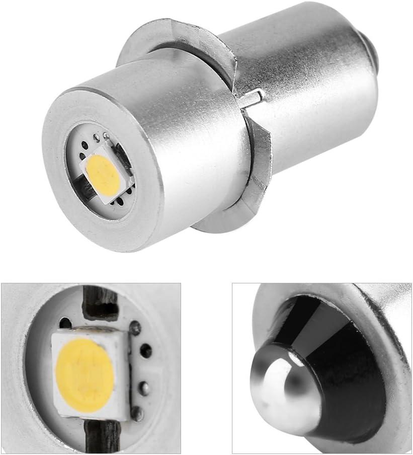 l/ámpara de Bolsillo de Ahorro de energ/ía P13.5S 1W. Garsent Bombilla de Repuesto LED para linternas 3V