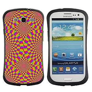 LASTONE PHONE CASE / Suave Silicona Caso Carcasa de Caucho Funda para Samsung Galaxy S3 I9300 / Hypnotic Wallpaper Geometrical Art Design