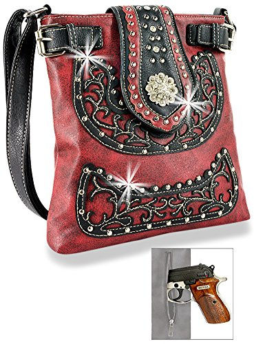 Red Western Sling Layered Crossbody brown nq0PTqOBw