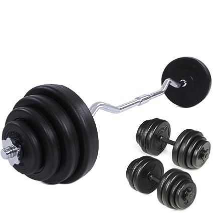 Physionics® - Juego de pesas con mancuerna (longitud 49 cm y 2,5