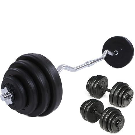 Physionics® - Juego de pesas con mancuerna (longitud 49 cm y 2,5 ...