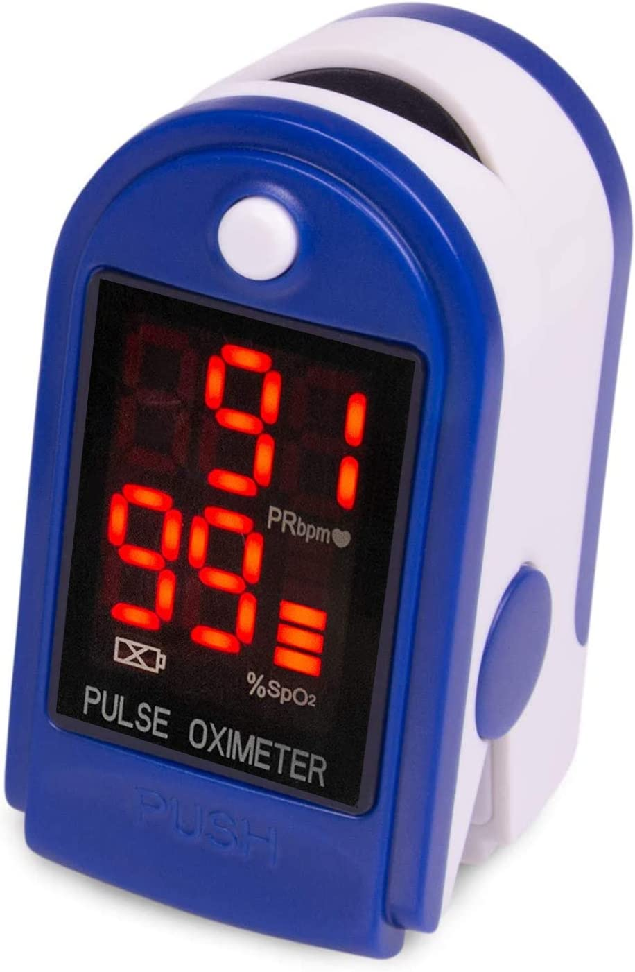 Roscoe Medical Finger Pulse Oximeter Oxygen Saturation Monitor - Pulse Ox Fingertip o2 Monitor for Pediatric and Adult - Sports and Aviation Use Only