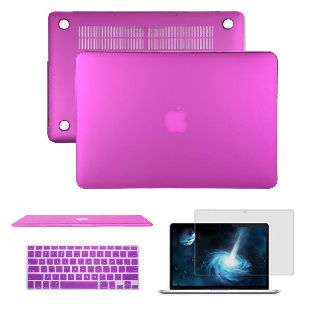 Macbookケース、Anrain soft-skin See Throughプラスチックハードケースカバー&キーボードカバー&スクリーンプロテクターfor MacBook MacBook Air 11