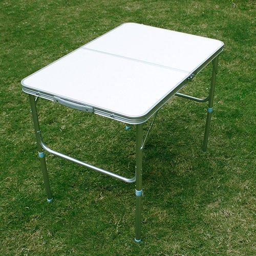 [mia.home®]Klapptisch Campingtisch Koffertisch Tisch klappbar 90x60x70 40CM (weiß)