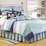 C&F Home Ocean Wave Collection Twin Quilt, 66 by 86-Inch